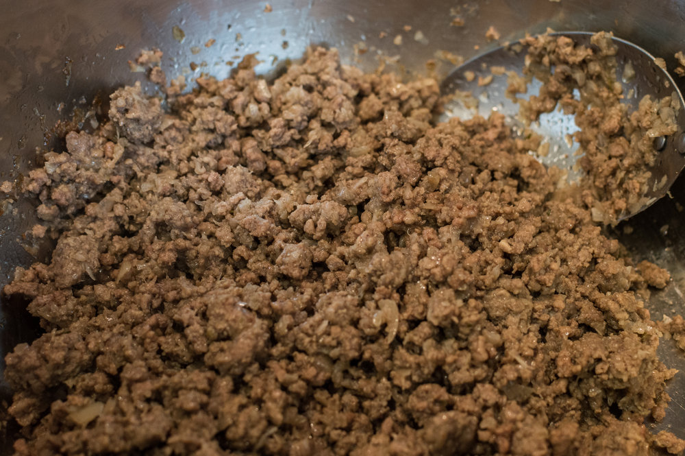 Ground beef filling