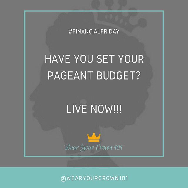 #FinancialFriday Before preparing for your upcoming pageant, you should figure out your budget. Let me show you how. Tune in now! #wearyourcrown101 #wearyourcrown #queen #queens #pageant #pageants #crown #crowned #missuniverse #missusa #missteenusa #missblackusa #missblackamerica #missamerica #missunitedstates #missearth #mbusam #operationevolve #pageantcoach #pageantgirl #pageantqueen #pageantlife #pageants #pageantprep #maot #dyw