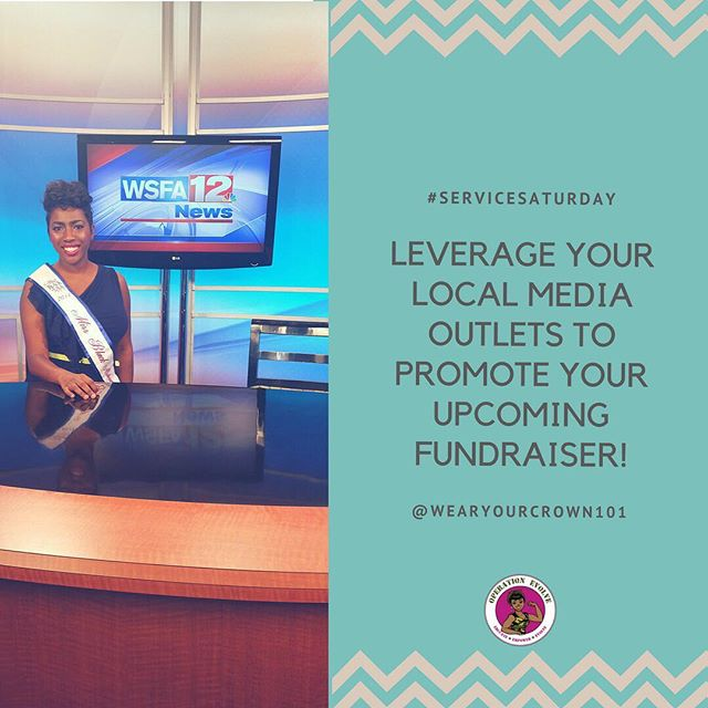 #servicesaturday As you are gearing up for your upcoming fundraiser, make sure you let as many people know. Your local media can be your friend. Leverage that relationship to have a successful event! #wearyourcrown101 #wearyourcrown #queen #queens #pageant #pageants #crown #crowned #missuniverse #missusa #missteenusa #missblackusa #missblackamerica #missamerica #missunitedstates #missearth #mbusam #operationevolve #pageantcoach #pageantgirl #pageantqueen #pageantlife #pageants #pageantprep #maot #dyw