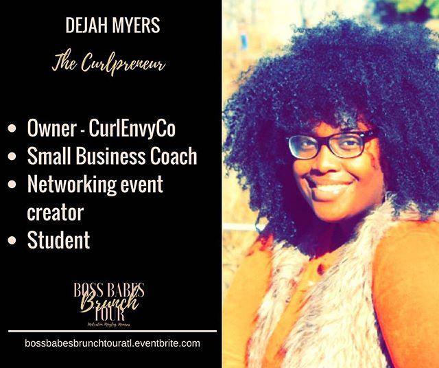 #wcw We are so excited to have the Founder of CurlEnvy Co, Dejah Myers on our Boss Babe panel this Saturday in Atlanta!!!! The Boss Babe started here hair care line from the ground up while enrolled as a full time student. If you are looking to break into the beauty industry, she has the tips you need to grow your brand. Tickets and vendor spaces are available at https://bossbabesbrunchtouratl.eventbrite.com. We will see you there!!! #bossbabesbrunchtour #bossbabesbrunch #boss #babes #brunch #tour #motivation #mingling #mimosas #bossup #bossupthebook #operationevolve #educate #empower #evolve #womensempowerment #empowerment #empoweringwomen #buildyourbusiness #atlanta #atl #404 #girlboss #marketing #womeninspiringwomen #womeninbusiness @curlenvyco @operationevolve