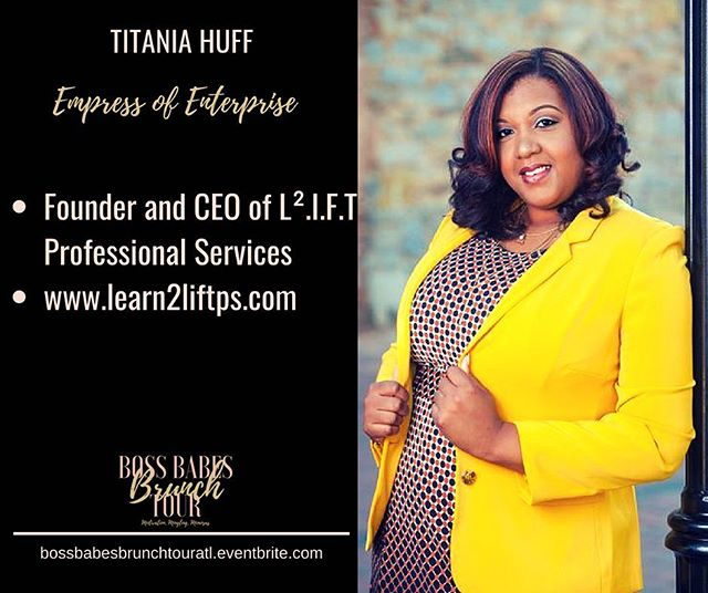 I am so excited to have @empressofenterprise Titania Huff moderate our Boss Babe Panel this weekend at the Boss Babes Brunch Tour in Atlanta, Georgia. Grab your ticket today! Https://bossbabesbrunchtouratl.eventbrite.com #bossbabesbrunchtour #bossbabesbrunch #bossbabes #boss #babes #brunch #tour #femaleentrepreneur #entrepreneurship #buildyourbusiness #empowerment #empoweringwomen #motivation #mingling #mimosas #womeninspiringwomen #operationevolve #branding #marketing #atlanta #atl #404 #educate #empower #evolve