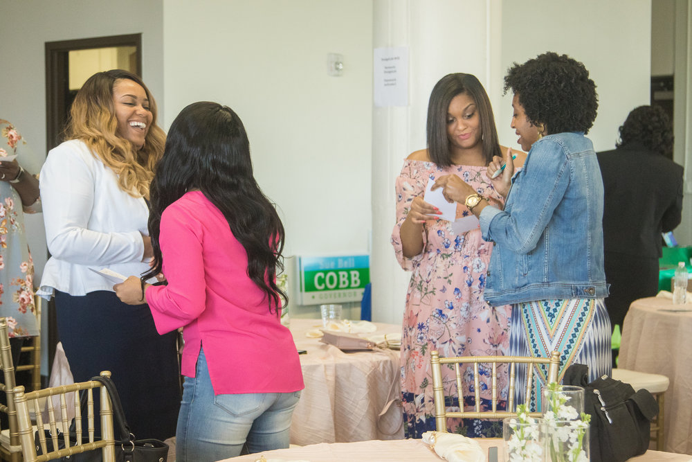 "Mingling - In the words of Ashley Jernigan of JDB Hospitality, ""Adult friendships are strategic partnerships."" In addition to developing skills for your brand, the Boss Babes Brunch Tour provides opportunities for you to develop relationships with potential partners, clients, and friends during our event!"