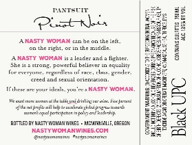 Pantsuit Pinot Noir Back Label