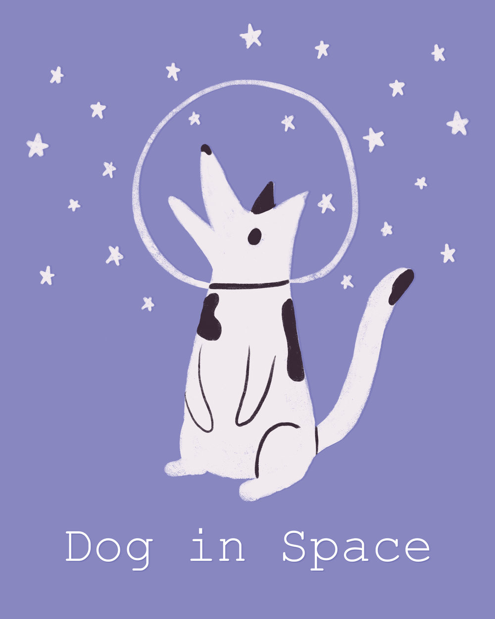 Dog in space purple 72.jpg