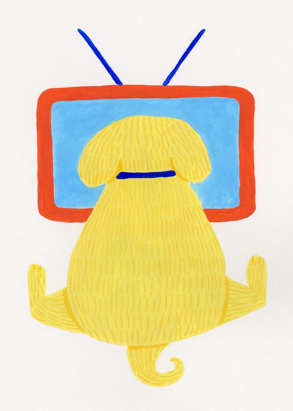 Dog Cards- TV Dog Yellow 5x7.jpg