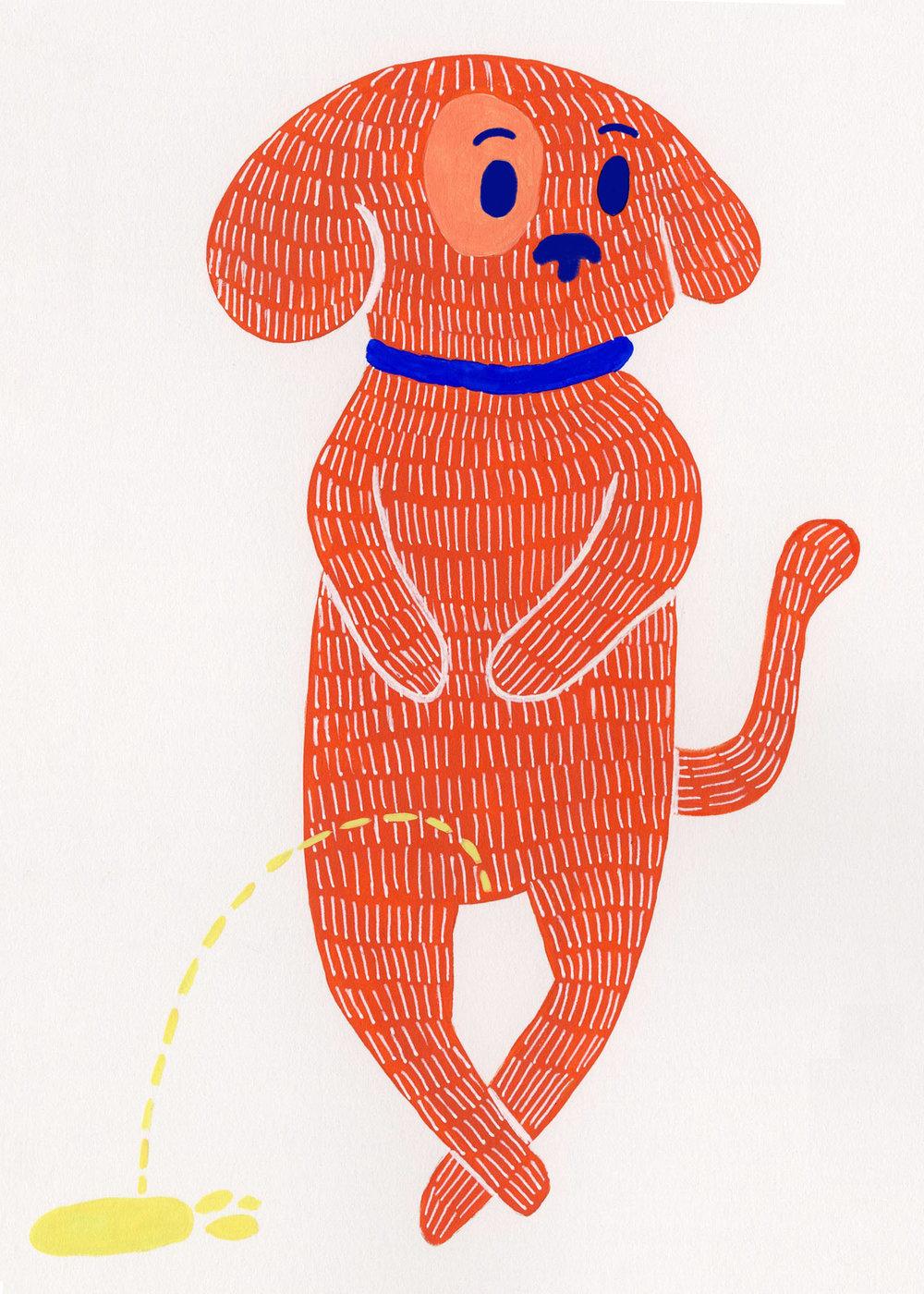 Dog Cards- Peeing Red Dog 5x7.jpg