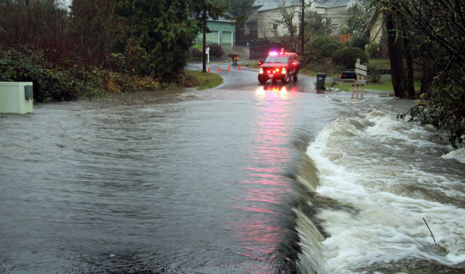Flooding in Hillsboro, OR (February 2017)