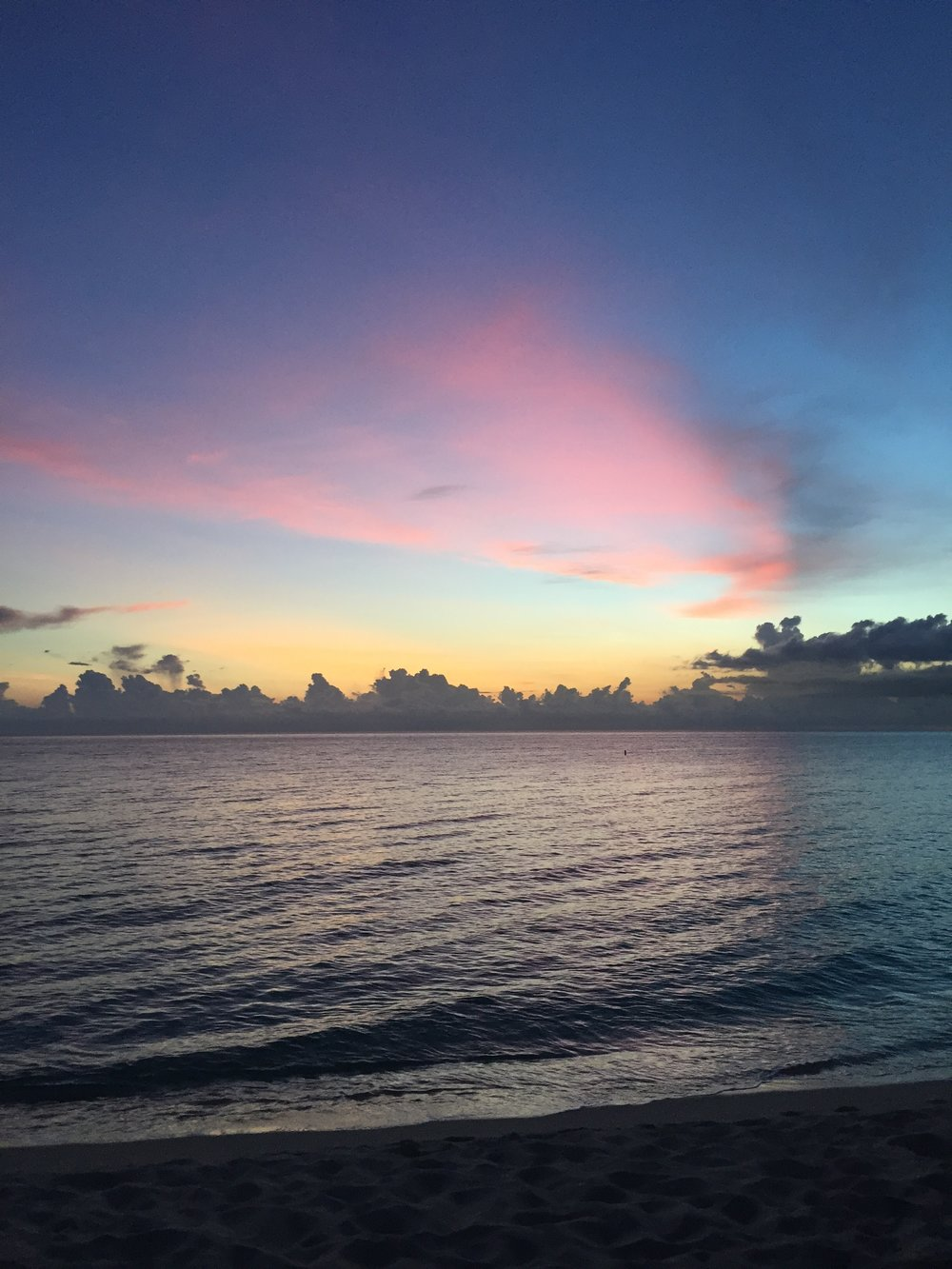 Cayman Islands' 7 Mile Beach at Sunset - 2016