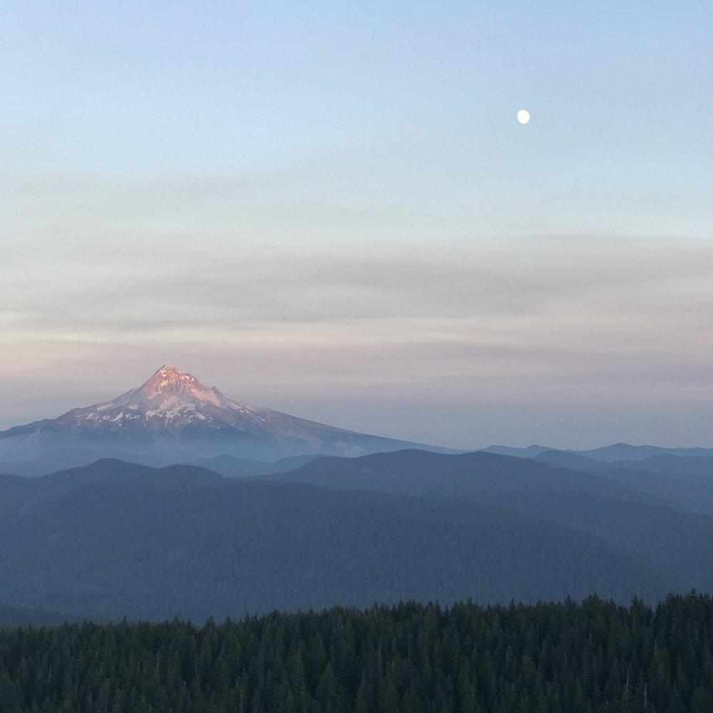 Mt. Hood from Larch Mountain - August 2017