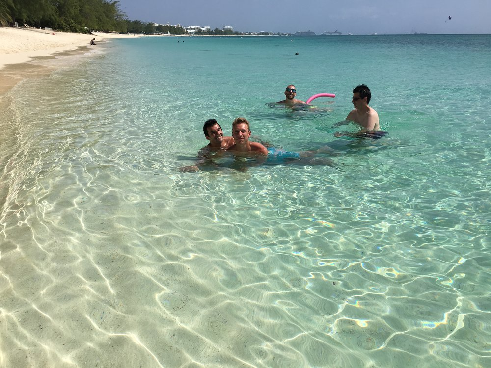 Yes, the water really looks like that. Grand Cayman - August 2017