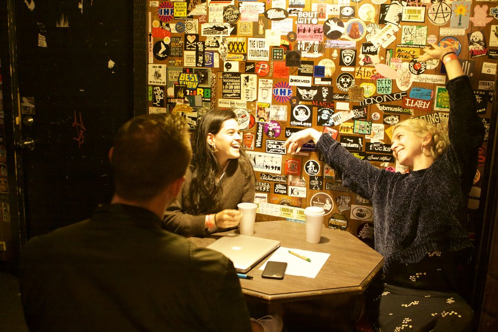 An image from behind the scenes of my interview with Overcoats - which you can find in its entirety in the magazine