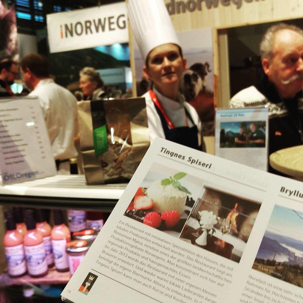 Tingnes Spiseri var en av de utvalgte spisestedene som fikk representere Norge under Grüne Woche i Berlin 2017