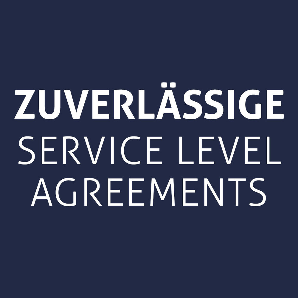 Zuverlässige service level agreements