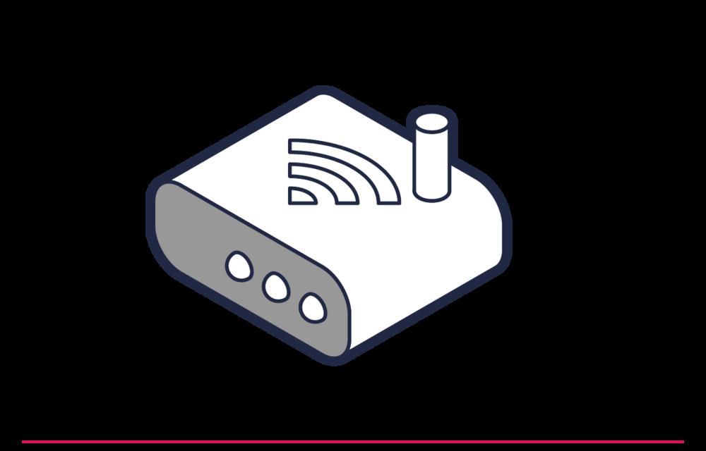 Sie schließen Ihren WLAN-Router an und richten Ihr eigenes WLAN-Netzwerk mit Passwort ein.