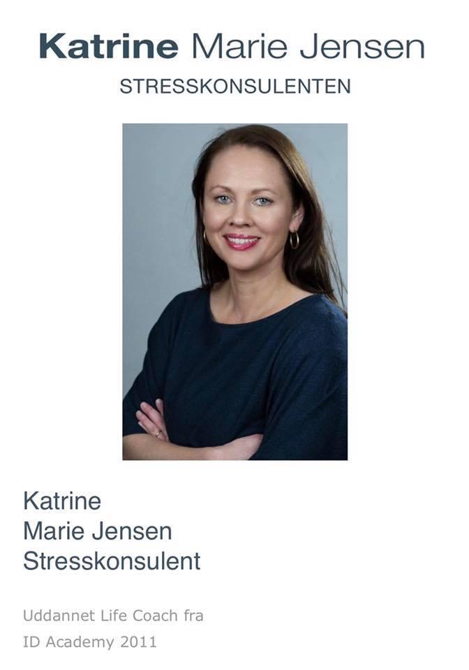 Katrine arbejder dagligt som stresskonsulent og har i sin karriere både arbejdet med stressramte privatpersoner, multinationale virksomheder, kommuner samt ministerier. Hun rejser ligeledes rundt i Danmark og afholder foredrag om stress.
