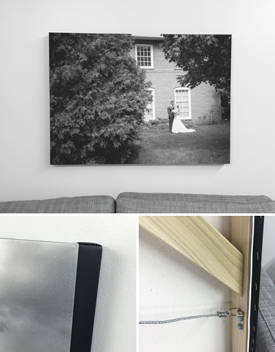 NH Wedding Photographer: Gallery Canvas Wrap of Saint Anselm wedding