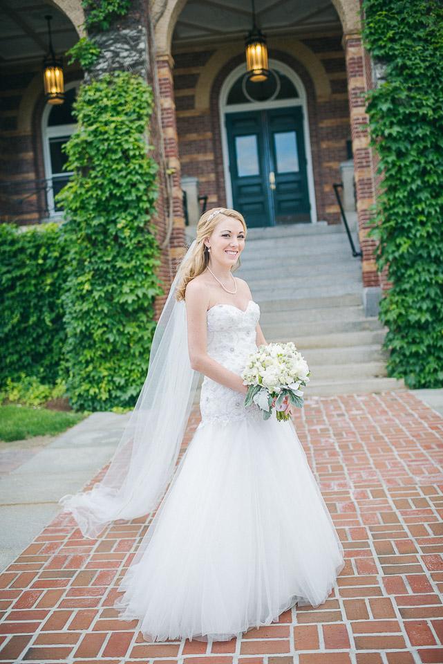 NH Wedding Photographer: bride portrait in Manchester, NH