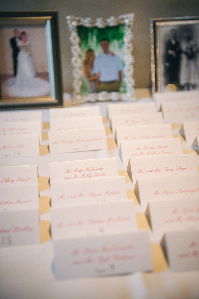 NH Wedding Photographer: reception table cards