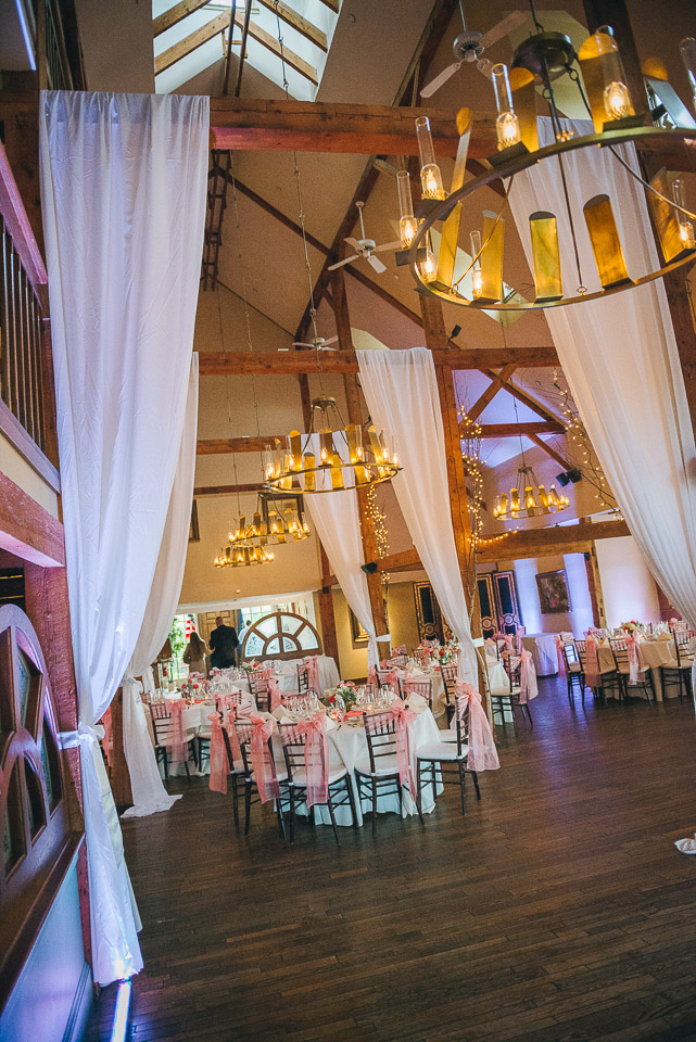 NH Wedding Photographer: reception drapes