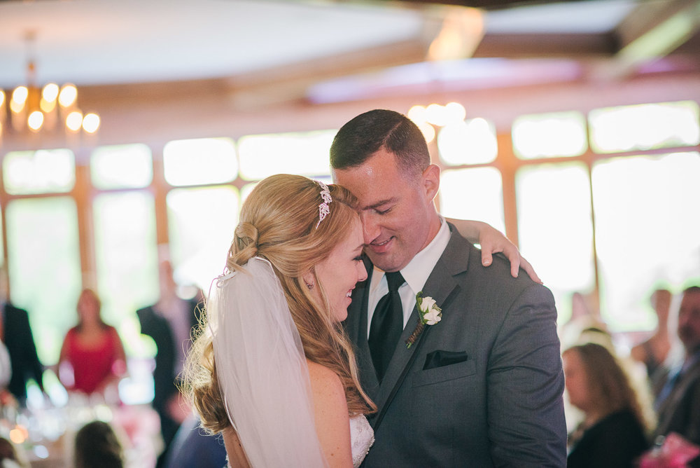 NH Wedding Photographer: bride and groom first dance
