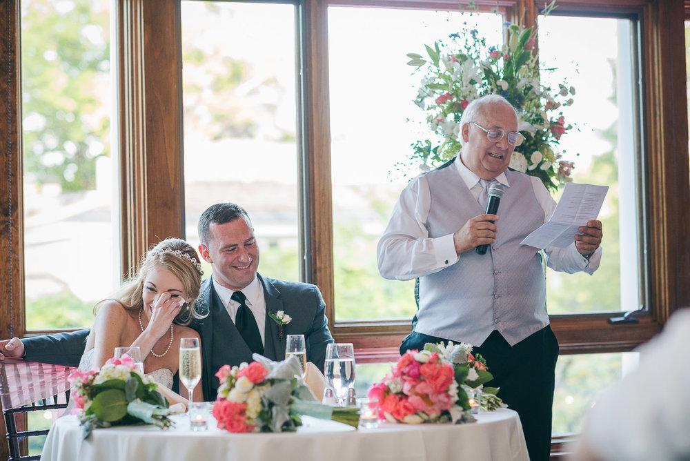 NH Wedding Photographer: dad speech