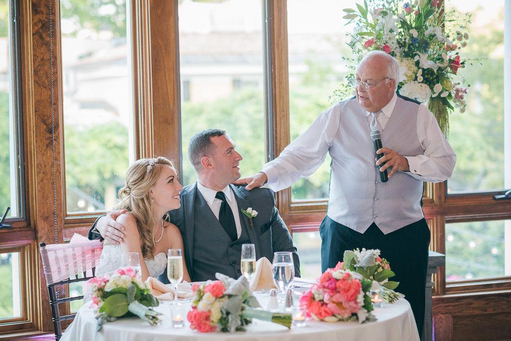 NH Wedding Photographer: dad toast