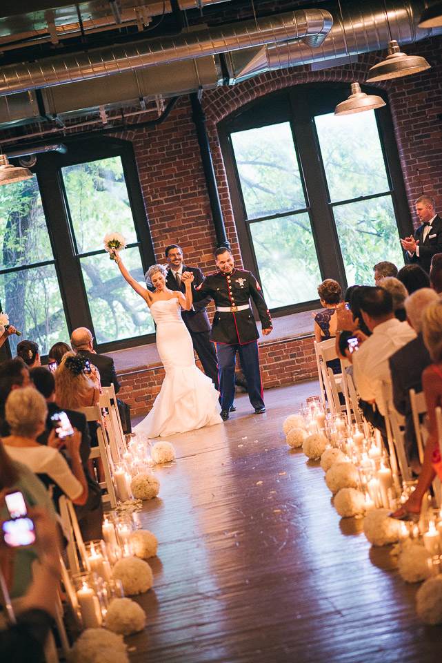 NH Wedding Photographer: recessional