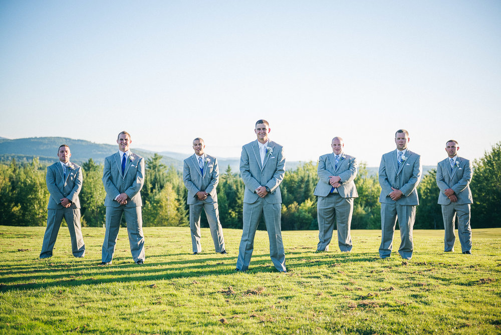 NH Wedding Photographer: groom and groomsmen