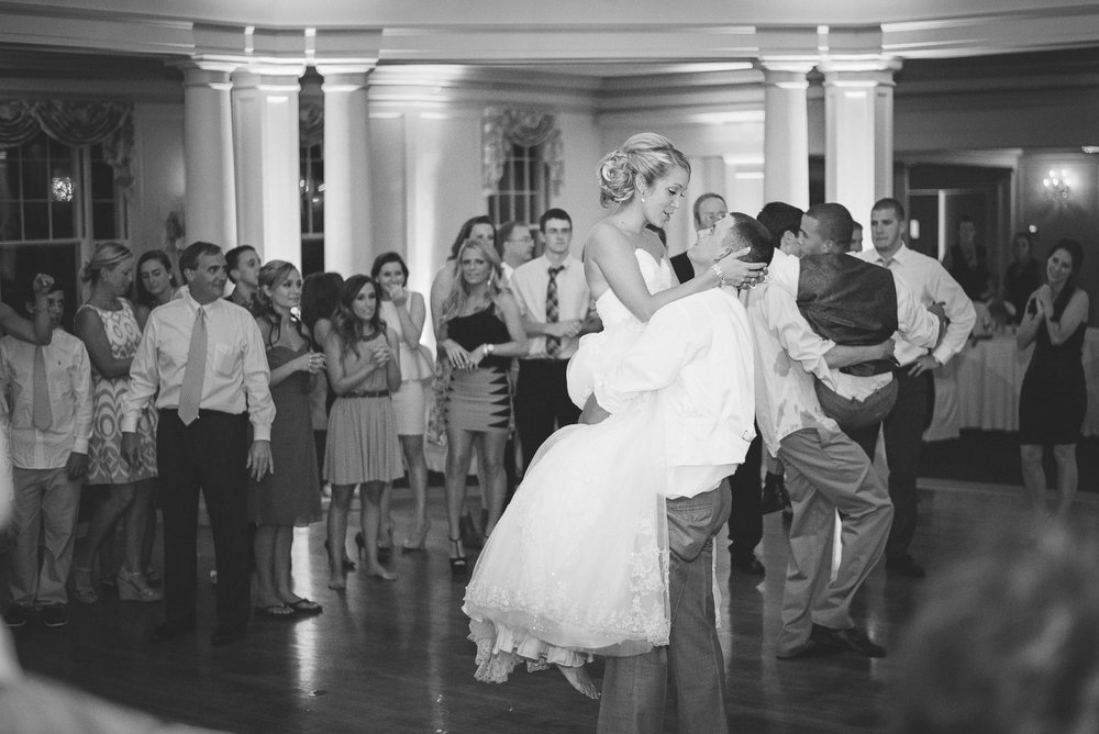 NH Wedding Photographer: bride and groom last dance