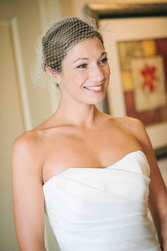 NH Wedding Photography: bride dressed