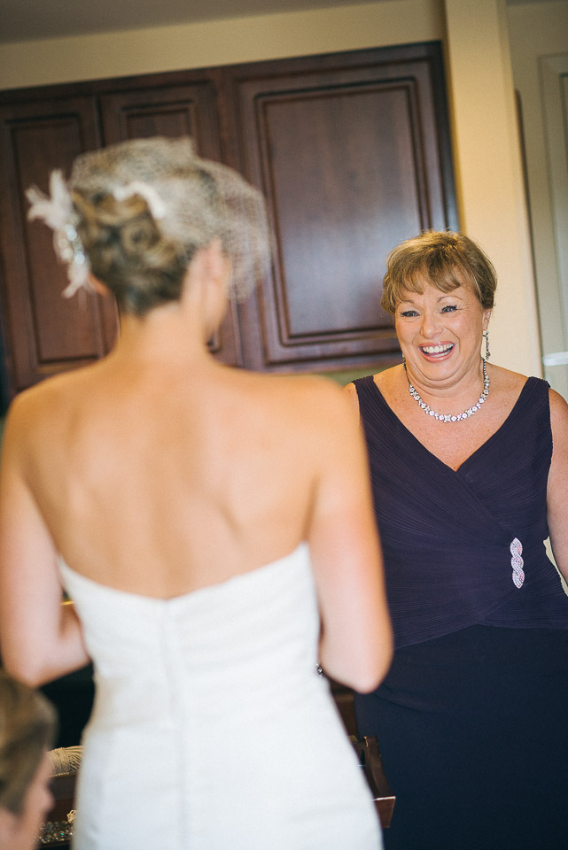 NH Wedding Photography: mother looking at bride