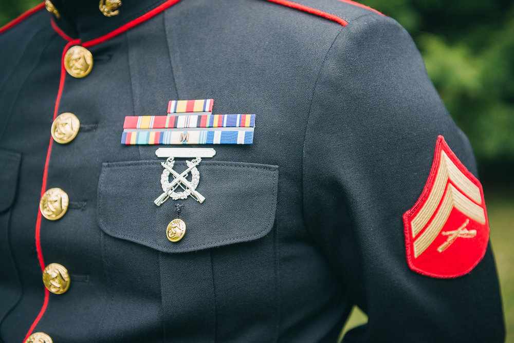 NH Wedding Photography: Groom in uniform
