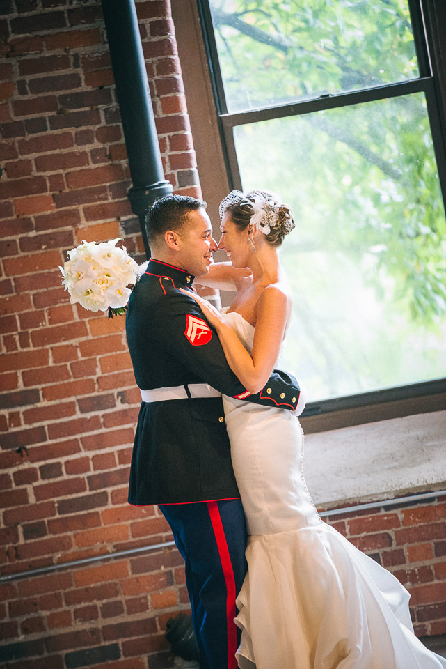NH Wedding Photography: bride and groom kiss