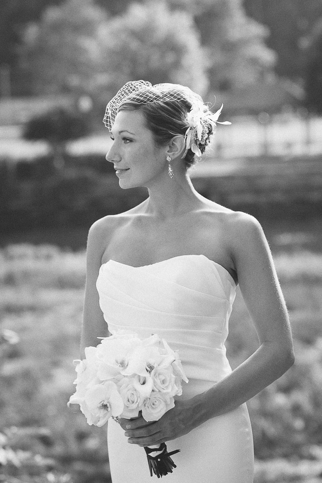 NH Wedding Photography: bride outside in Dover NH