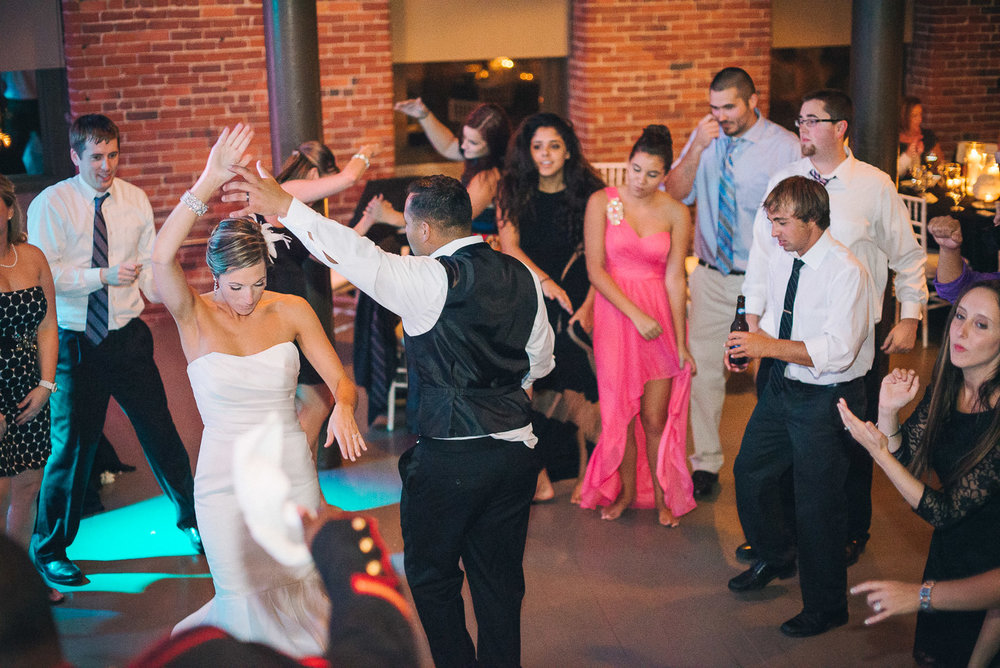 NH Wedding Photography: bride and groom dancing