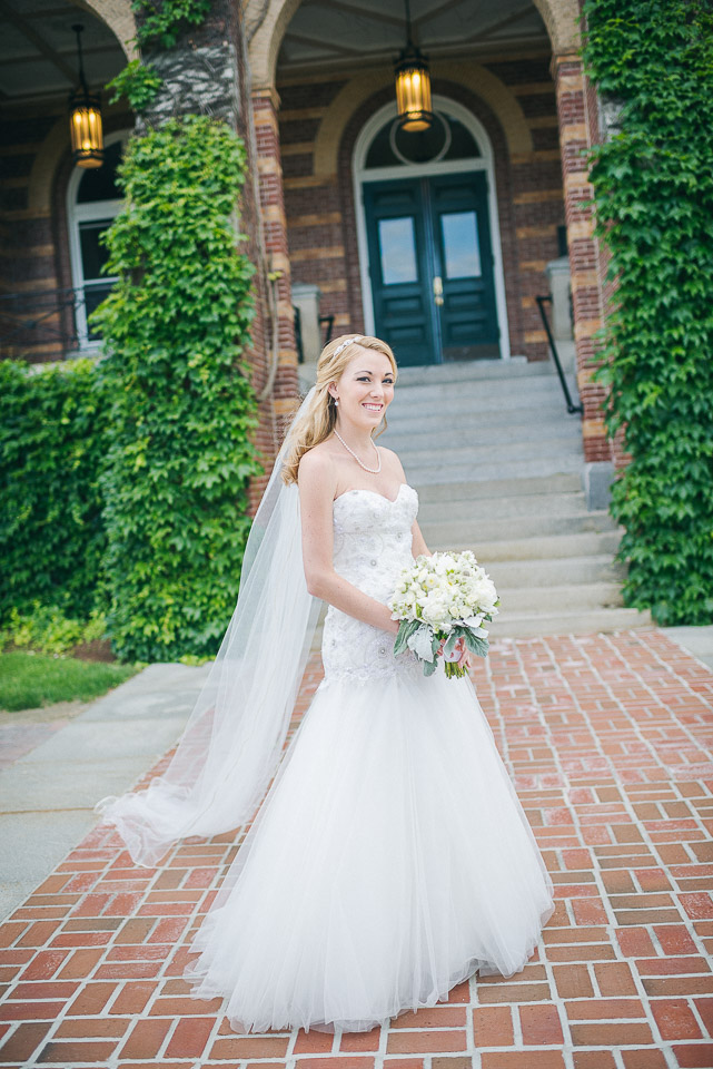 NH Wedding Photography: bride portrait at Saint Anselm