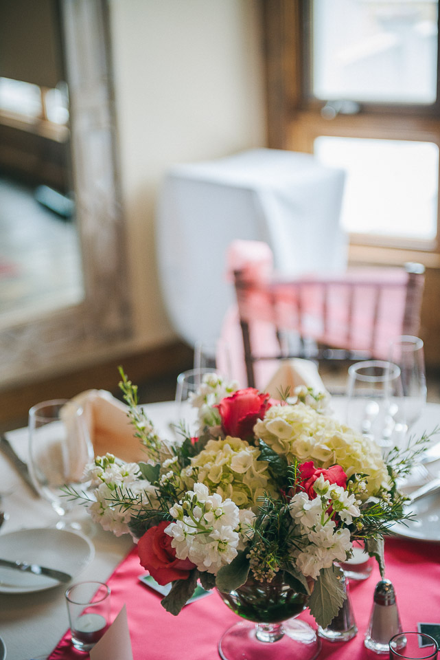 NH Wedding Photography: table details at reception