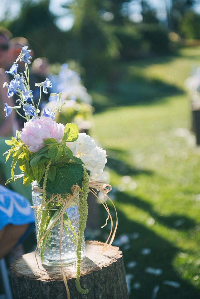 NH Wedding Photography: flowers at ceremony