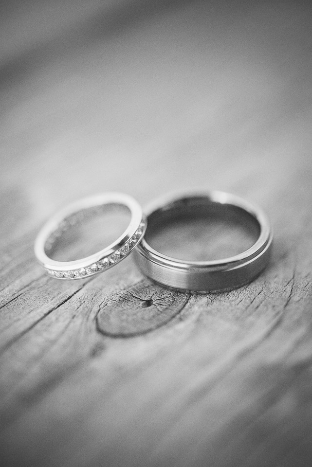 NH Wedding Photography: wedding bands on wood