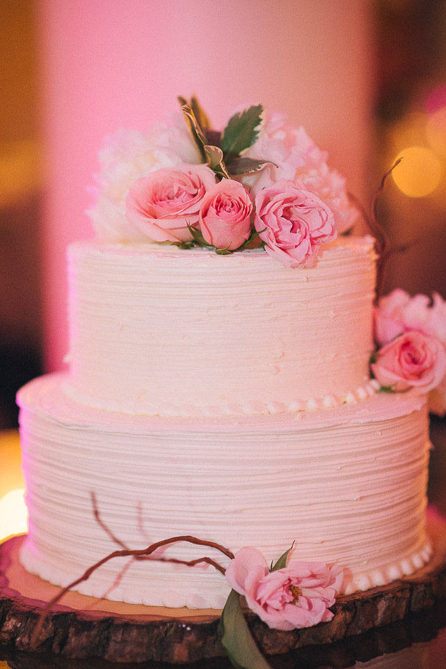 NH Wedding Photography: wedding cake at reception