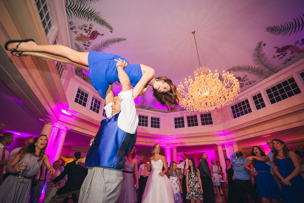 NH Wedding Photography: dancing at reception