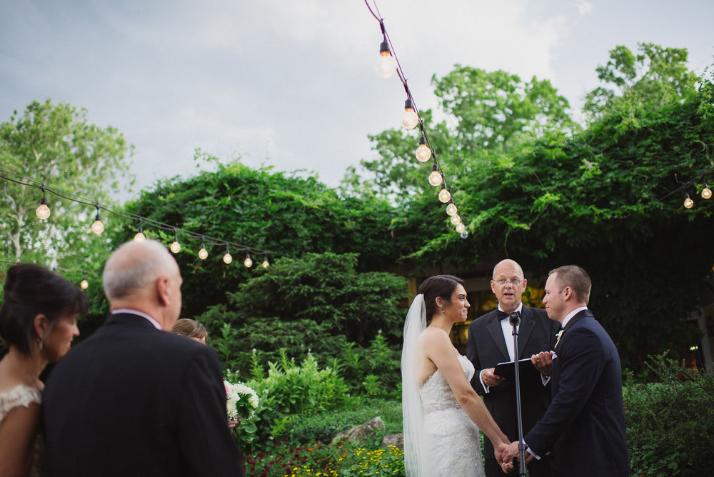 NH Wedding Photographer: ceremony under lights