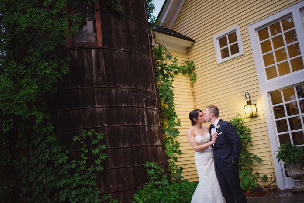 NH Wedding Photographer: in front of Bedford Village Inn