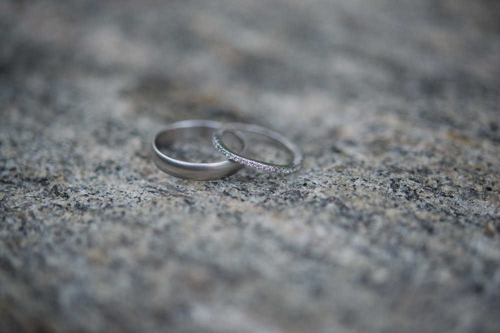 NH Wedding Photography: bands on rocks