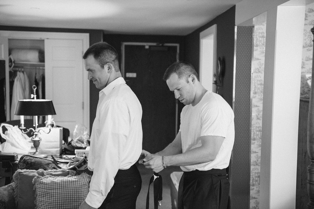 NH Wedding Photography: groom getting ready