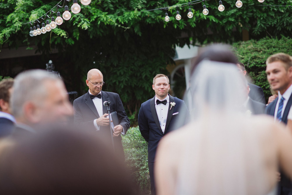 NH Wedding Photography: groom seeing bride