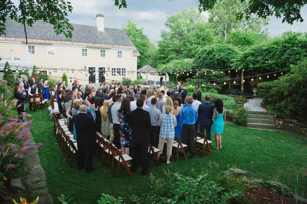 NH Wedding Photography: ceremony at Bedford Village Inn