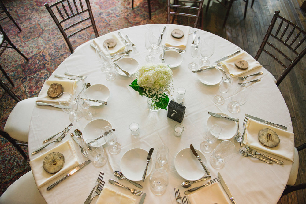 NH Wedding Photography: table details BVI