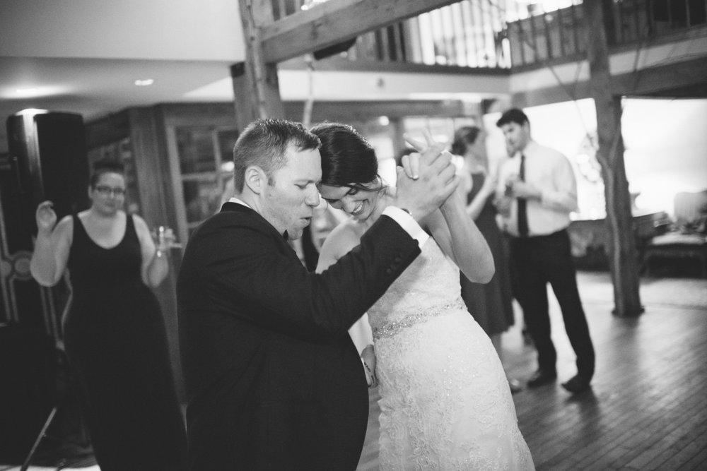 NH Wedding Photography: having fun at reception