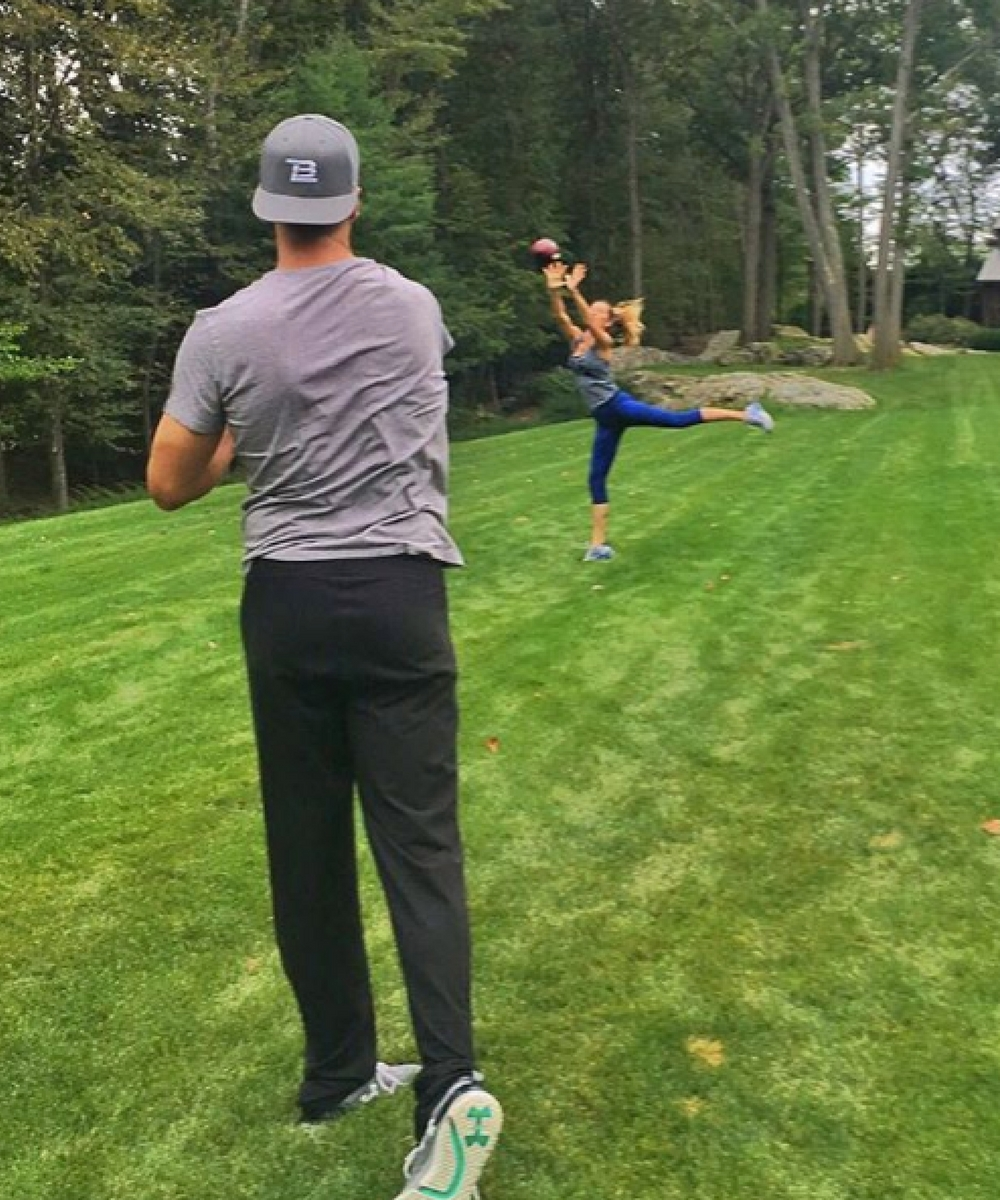 2. Workout with Tom, one of their favorite things to do together